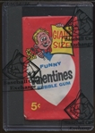 1961 Topps Funny Valentines Unopened Wax Pack (BBCE)