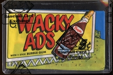 "1969 Topps Wacky Ads Unopened Wax Pack W/Card #31 ""Sailem"" on Front (BBCE)"
