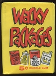 "1967 Topps Wacky Packages Unopened Wax Pack W/#14 ""Alcohol Seltzer"" on Front & ""Duzn't Do Nuthin"" on Back"