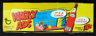 1969 Topps Wacky Ads PARTIAL Wax Box (19 sealed packs) 10 cent packs