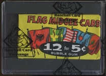1963 Topps Flag Midgee Unopened Wax Pack (BBCE)