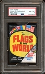 1970 Topps Flags of the World Unopened Wax Pack PSA 8 NM/MT