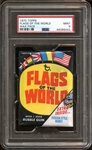 1970 Topps Flags of the World Unopened Wax Pack PSA 9 MINT