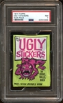 1974 Topps Ugly Stickers Unopened Wax Pack PSA 7 NM