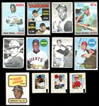 1969-70 Topps Baseball Group of (90) Cards and Inserts with Stars and HOFers