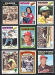 1971-78 Baseball Shoebox Collection of Over (350) with Hall of Famers