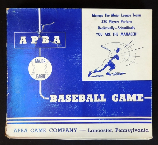 1957 APBA Baseball Complete Game in Original Box with All Team Sets