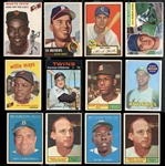 1950s-70s Topps Shoebox Group of (20) Star Cards