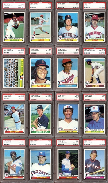 1979 Topps Baseball Group of (16) All PSA Graded with HOFers