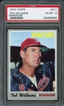 1970 Topps #211 Ted Williams Manager PSA 6 EX-MT