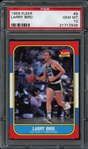1986 Fleer #9 Larry Bird PSA 10 GEM MINT