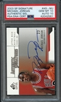 2003 SP Signature #AS-MJ Michael Jordan Authentic Sig. PSA/DNA CERT PSA 10 GEM MINT AUTO 10
