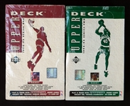 1994-95 Upper Deck Basketball Series 1 and 2 Unopened Wax Box Group of (2)
