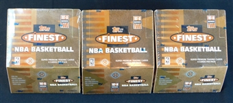 1997-98 Topps Finest Basketball Series 2 Unopened Wax Box Group of (3)