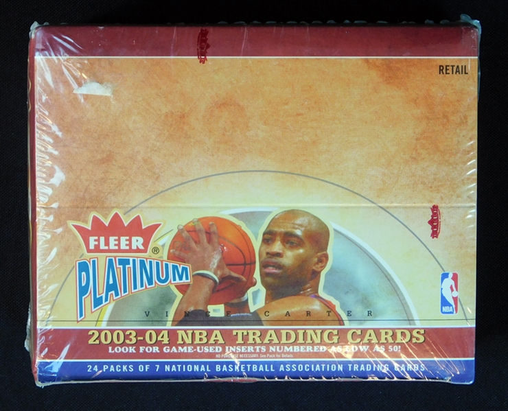 2003-04 Fleer Platinum Basketball Unopened Retail Box