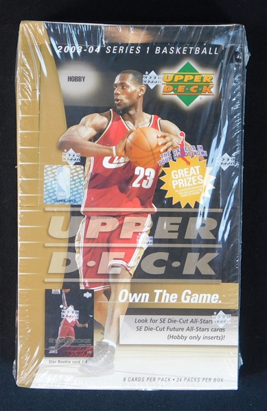 2003-04 Upper Deck Series 1 Basketball Unopened Hobby Box