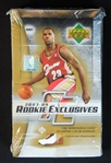 2003-04 Upper Deck Rookie Exclusives Unopened Hobby Box