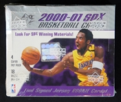 2000-01 Upper Deck SPx Basketball Unopened Hobby Box