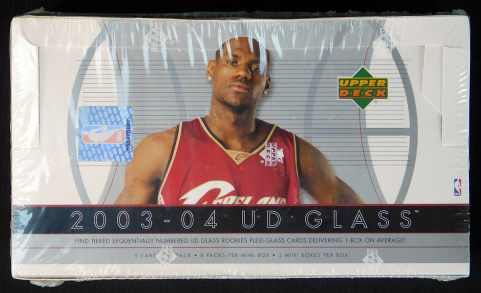 2003-04 Upper Deck Glass Basketball Unopened Hobby Box