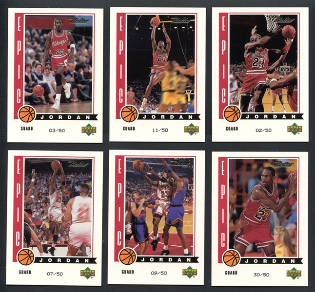 1999-00 Upper Deck Retro Epic Michael Jordan Complete Set of (10)