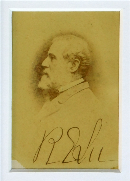 Robert E. Lee Signed Photogaph BAS