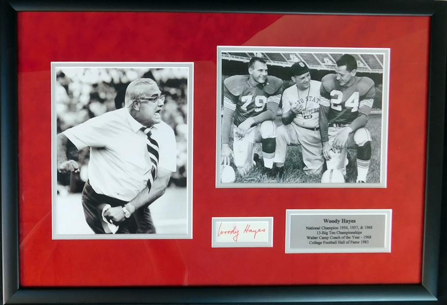 Woody Hayes Cut Signature JSA