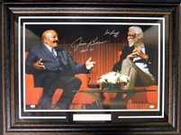 Jim Brown and Bill Russell Signed Large Color Photo JSA