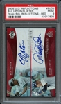 2005 U.D. Reflections #BUDJ B.J. Upton / Derek Jeter Dual Sig. Reflections - RED PSA 9 MINT /99