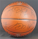 2015-16 Cleveland Cavaliers Team-Signed Basketball with (15) Signatures Featuring LeBron James with Team LOA