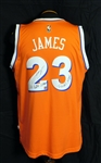 "LeBron James Signed Cleveland Cavaliers Jersey ""2015 NBA Champs, Finals MVP"" Team COA"