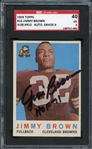 1959 Topps #10 Jimmy Brown AU814412 Auto. Grade 9 SGC 3 VG