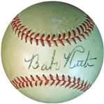 Babe Ruth Single-Signed OAL (Harridge) Ball JSA and PSA/DNA