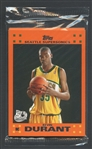 2007-08 Topps Retail Exclusive Orange Unopened Cello Pack with Kevin Durant