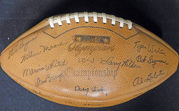 1945 Washington Redskins Team-Signed Football with (40) Signatures Featuring (2) Sammy Baugh JSA