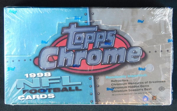 1998 Topps Chrome Football Unopened Hobby Box (Possible Peyton Manning RC)