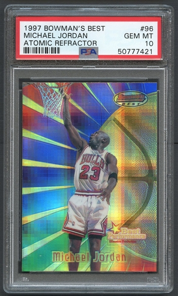 1997 Bowmans Best #96 Michael Jordan Atomic Refractor PSA 10 GEM MT