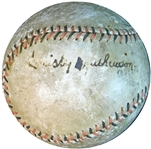 Christy Mathewson Single-Signed ONL Baseball- Fresh To The Hobby JSA