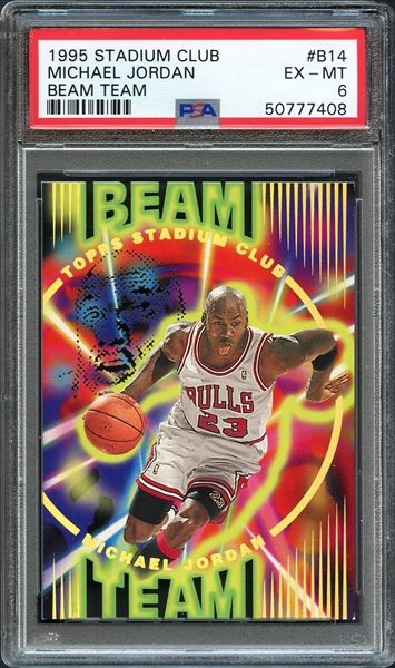 1995 Stadium Club #B14 Michael Jordan Beam Team PSA 6 EX-MT