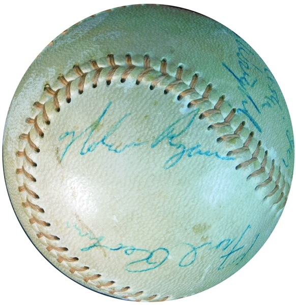 1966 Greenville Mets Signed Baseball Featuring Nolan Ryan JSA
