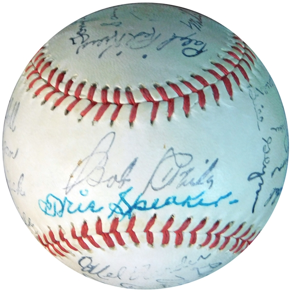 Tris Speaker Signed Ball That is Technically a Single-Signed Ball JSA