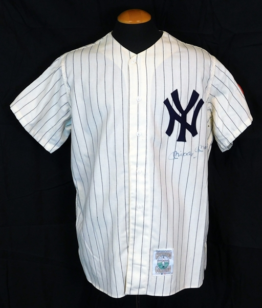 Mickey Mantle Autographed 1952 New York Yankees Mitchell and Ness Jersey JSA