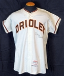 1964 Robin Roberts Baltimore Orioles Game-Used and Signed Home Jersey Sports Investors Authentication- JSA