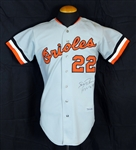 1973 Jim Palmer Baltimore Orioles Game-Used and Signed Road Jersey from Cy Young Season Sports Investors Authentication-JSA