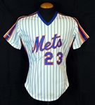 1987 Bud Harrelson New York Mets Game-Used and Signed Home Jersey JSA