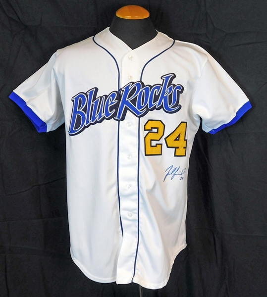 2003 Zack Greinke Wilmington Blue Rocks Game-Used and Signed Minor League Jersey JSA