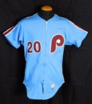 1983 Mike Schmidt Philadelphia Phillies (Team Issued) and Signed Road Jersey Sports Investors Authentication- JSA