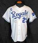 2003-07 Mike Sweeney Kansas City Royals Game-Used and Signed Home Jersey JSA
