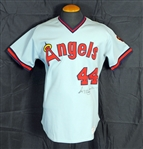 1982-86 Reggie Jackson California Angels Game-Worn and Dual Signed Jersey Sports investors Authentication- JSA