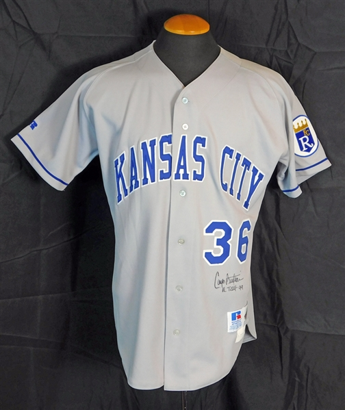 1999 Carlos Beltran Kansas City Royals Game-Used and Signed Road Rookie Jersey JSA