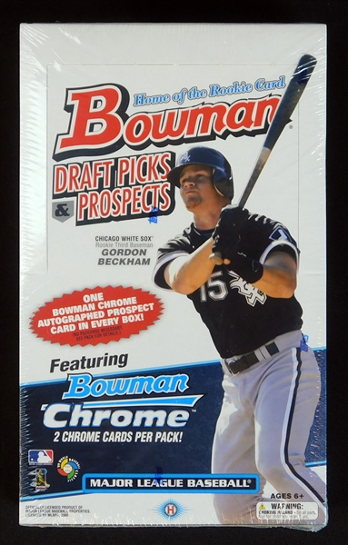 2009 Bowman Chrome Draft Picks and Prospects Unopened Hobby Box-Possible Mike Trout Rookie Auto